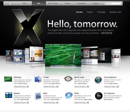 ON: Mac OS X 10 5 Leopard's release